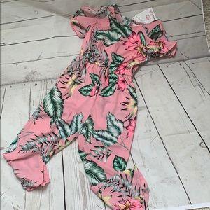 Girls floral pants romper adorable loose fit